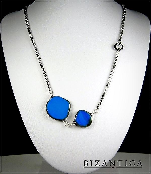 naszyjnik-kobalt-duo-stal-srebro-szklo